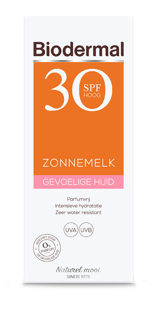Gevoelige huid zonnemelk SPF30 box