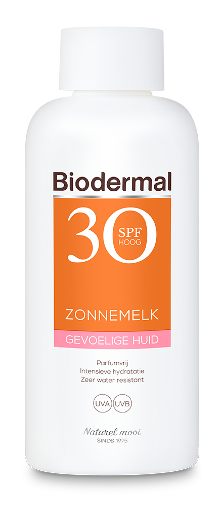 Gevoelige huid zonnemelk SPF30 fles