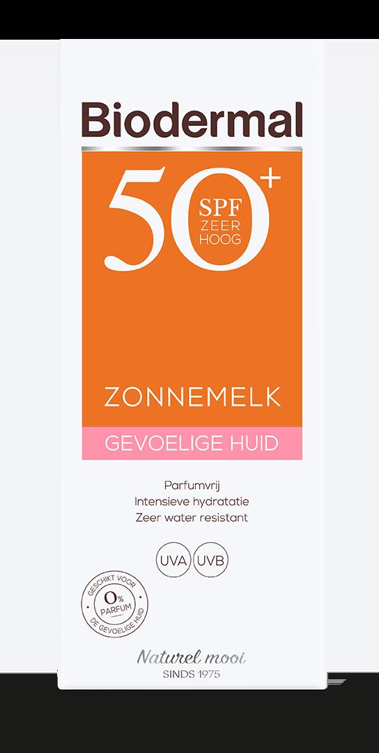 Gevoelige huid zonnemelk SPF50+ box