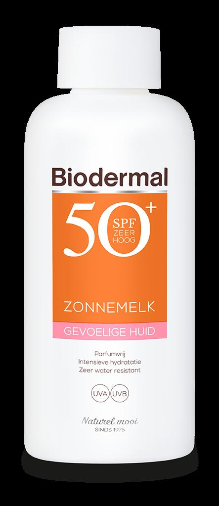 Gevoelige huid zonnemelk SPF50+ fles