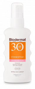 Biodermal product Gevoelige huid Zonnespray SPF 30 zonder achtergrond