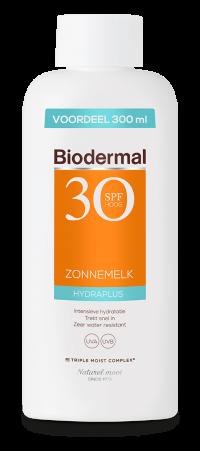 Biodermal product Hydraplus Zonnemelk SPF 30 zonder achtergrond